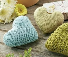 Hanging Hearts for the Home - free knitting pattern download from Let's Knit!