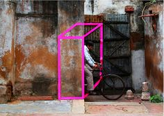 Street art made from tape by Aakash Nihalani