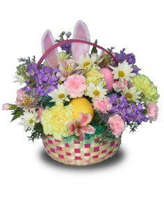 Easter Basket Flower Arrangements Hippity Hop Fl