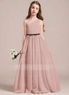 a1b622b5840 JJ s House has hundreds of beautiful floor-length   short junior bridesmaid  dresses for girls in bridal parties. Your jr bridesmaid will fall in love  our ...