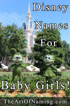 Names inspired by Disney Princesses and more!  #babynames #disney