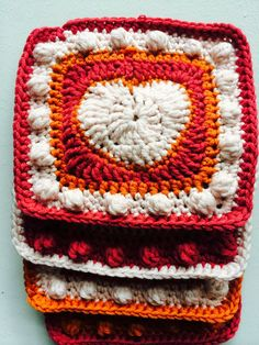 Annoo's Crochet World: Variation on my Valentine heart Granny