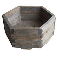 Small 16 x 16 x 7-inch Hexagon Fir Wood Garden Planter Box