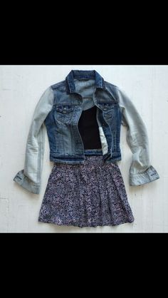 Cute jean jacket and skirt from Aeropostale