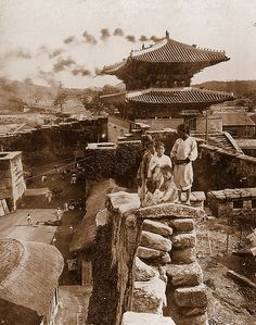 OLD KOREA - LAND OF THE MORNING CALM -- Kids On the City Wall, SEOUL by Okinawa Soba, via Flickr