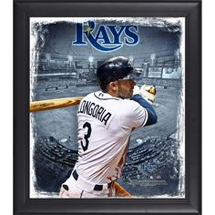 "Evan Longoria Tampa Bay Rays Fanatics Authentic Framed 15"" x 17"" Playmakers Collage"