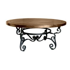 @Overstock.com - 'Santa Fe' Wrought Iron Round Dining Table - This magnificent piece of furniture hand-made to be in your family for generations. The base of this table is hand-made of wrought iron, the finish is an antique pewter.  http://www.overstock.com/Home-Garden/Santa-Fe-Wrought-Iron-Round-Dining-Table/8359457/product.html?CID=214117 $1,549.00