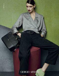 Brand : Giorgio Armani  Season : Fall/Winter 14.15   Designer : Giorgio Armani  Photographer : Solve Sundsbo Model : Marikka Juhler