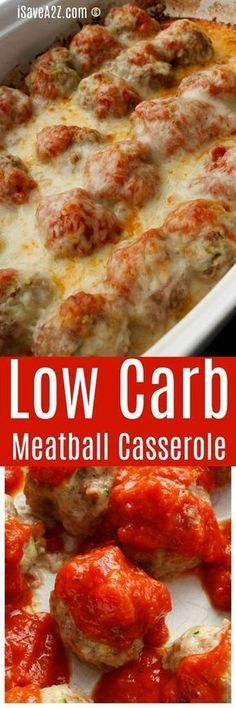 Low Carb Meatball Casserole Enjoy some of your favorite Italian flavors with significantly fewer carbs! The post Low Carb Meatball Casserole appeared first on Rezepte. Paleo Recipes, Low Carb Recipes, Cooking Recipes, Potato Recipes, Lunch Recipes, Dog Recipes, Meatball Recipes, Chicken Recipes, Mexican Recipes