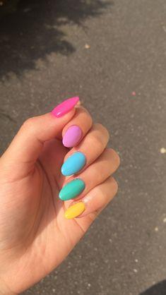 Acrylic Nails Yellow, Summer Acrylic Nails, Summer Nails, Color For Nails, My Nails, Dream Nails, Hair Skin Nails, Make Me Up, Nail Inspo