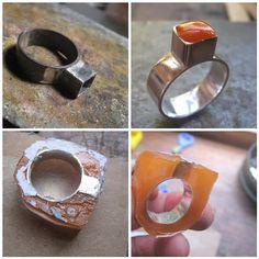 Orange Treasure Box Ring WIP | by Quercus Silver