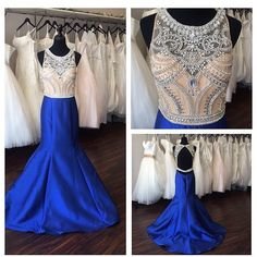 Royal Blue Prom Dress,Mermaid Prom Dress,Satin Prom Gown,Backless Prom Dresses,Sexy Evening Gowns,2016 Evening Gown,Open Back Party Dress,Satin Formal Gowns For Teens