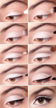 Natural simple makeup. I like :)