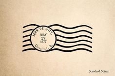 Postmark Rubber Stamp - 3 x 2 inches
