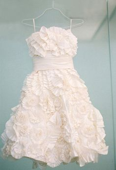 love love love this little white floral dress....would dye it a fun color so it doesn't look like a wedding dress.