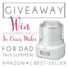 Cuisinart Ice Cream Maker Giveaway! We love making ice cream all summer long. You just can't beat it! Come enter for your chance to win!