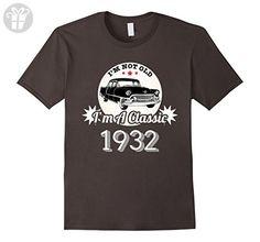Mens I'm Not Old I'm A Classic 1932 Funny 85th Birthday Tshirt 2XL Asphalt - Birthday shirts (*Amazon Partner-Link)