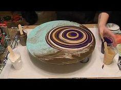 (29) Purple Acrylic Pour, Puddle Pour Style - YouTube