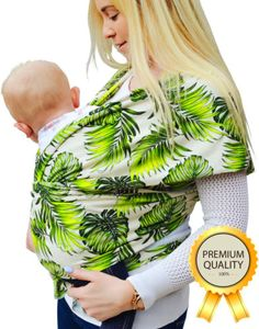 Safe-and-Stylish-Organic-Baby-Carrier-Wrap-Ideal-Newborn-Babywearing-Shower-Gift