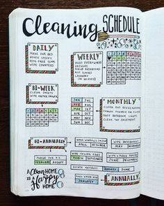 Are you searching for bullet journal ideas to keep your house clean & organized? Here are 15 bullet journal layout ideas to use as inspiration for your spring cleaning schedule. Bullet journal inspiration isn't exactly difficult to come by but there are s Bullet Journal Notebook, Bullet Journal Inspo, My Journal, Journal Pages, Bullet Journals, Beginner Bullet Journal, Bullet Journal Daily Spread, Kalender Design, Vie Motivation