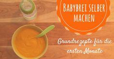 Babybrei selber machen - Das Grundrezept auch für Thermomix geeignet ist schnell gekocht. So könnt ihr gesunde Babynahrung einfach selber kochen. African Babies, Baby Led Weaning, Baby Hacks, Baby Kids, Pudding, Fruit, Healthy, Food, Kiwi