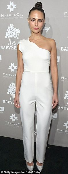 Who wore it better? Kourtney Kardashian, 36, and Jordana Brewster, 35, each wore monochromatic pant looks, with Kourtney opting for a low-cut cream suit and Jordana, a white, one-shoulder jumpsuit