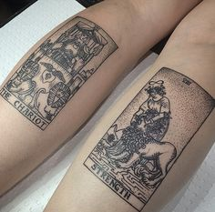 bruxa tattoo. I'm not typically a fan of tattoos that are confined to a space but these are cool.