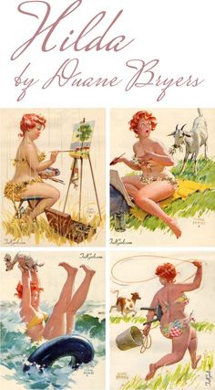 Hilda...  Andrea- these are cute too! Pinterest explore her or google her...