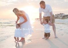 beautiful sunset beach family photography