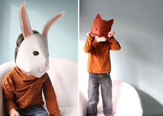 diy kids craft tutorial for wonderful paper animal masks