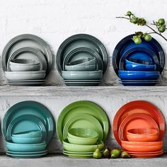Le Creuset 16-Piece Place Setting with Cereal Bowl | Williams-Sonoma