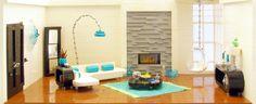 modern living room made of lego bricks