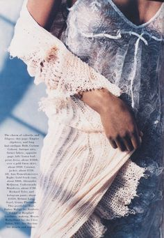 """US Harper's Bazaar March 1994 """"Rags and Riches"""" Models: Brandi Quiñones, Lorraine Pascale & Beverly Peele  Photographer: Peter Lindbergh Hair: Didier Malige Makeup: Moyra Mulholland"""