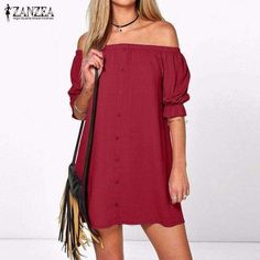 9ad79c2b5f6 Off Shoulder Mini Dress Half Sleeve Strapless