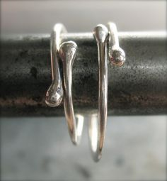 Sterling Silver Stacking Rings,  Two Finite Rings