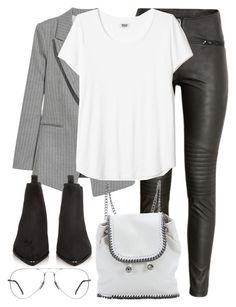"""""""Untitled #3151"""" by elenaday ❤ liked on Polyvore featuring Jakke, H&M, STELLA McCARTNEY, Acne Studios and Ray-Ban"""