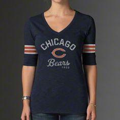 '47 Brand Chicago Bears Women's Big Time T-Shirt - Navy Blue