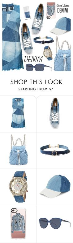 """""""All Denim, Head to Toe"""" by dressedbyrose ❤ liked on Polyvore featuring PRPS, Diesel, Salvatore Ferragamo, WithChic, Betsey Johnson, Steve Madden, Casetify, Christian Dior and The Hand & Foot Spa"""