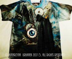 "T-shirt "" behind my eyes III.."" malowany ręcznie. © Katarzyna Urbanek , All rights reserved https://www.facebook.com/lunarisart"
