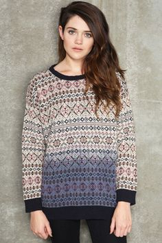 "Sparkle & Fade Dip-Dye Fair Isle Sweater - We say: ""On trend, and needs to be on us!""  Buy it: http://tidd.ly/4605d43d"