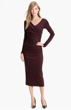 Darnit, can't wear wool dresses in Pasadena or Glendale. Argh! Diane von Furstenberg 'Bentley' Wool Midi Dress available at #Nordstrom