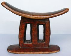 Africa | Headrest from Ethiopia | Wood | ca. 1900 - 1940