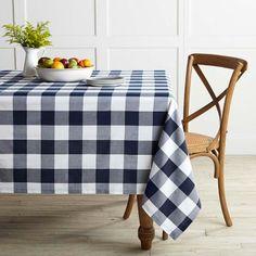 Buffalo Plaid Tablecloth #williamssonoma
