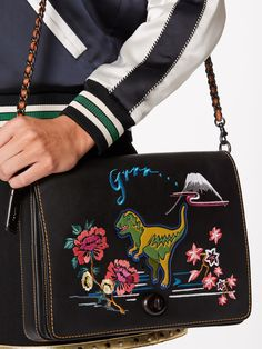 Coach 1941 Dino Embroidered Leather Shoulder Bag Image 3 3feafcc203596