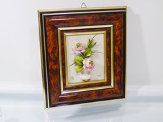 Wall Art Capodimonte Porcelain 3D Raised Floral Picture Italian Home Decor  We are delighted to offer this wall hanging of delicate, 3D raised floral arrangement of Capo-di-Monte porcelain - a style accredited to the very finest Italian porcelain This piece is professionally framed , bears Crown and N mark and is signed  Simone Frame measures : 11.25 x 10 inches / 28.5 x 25.5 cm