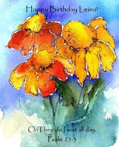 A beautiful card painted by a beautiful friend. Anne Duke watercolors.