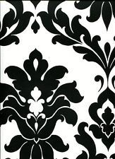 Black & White Bold Damask Large Pattern Wallpaper VG26230P