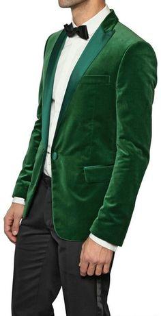 Dsquared2 Satin Collar Velvet Tuxedo Jacket in Green for Men - Lyst