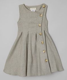 Look what I found on #zulily! Green Rose Button-Up Dress - Toddler by Le Bees Knees #zulilyfinds