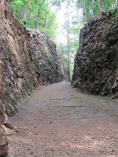 Hell Fire Pass - Kanchanaburi, Thailand  (73m Memorial Walk)    This is another sadly nostalgic place reminiscent of the Second World War. This is part of the route for the Death Railway that linked Thailand into Burma as a supply route for the Japanese troops invading Asia.
